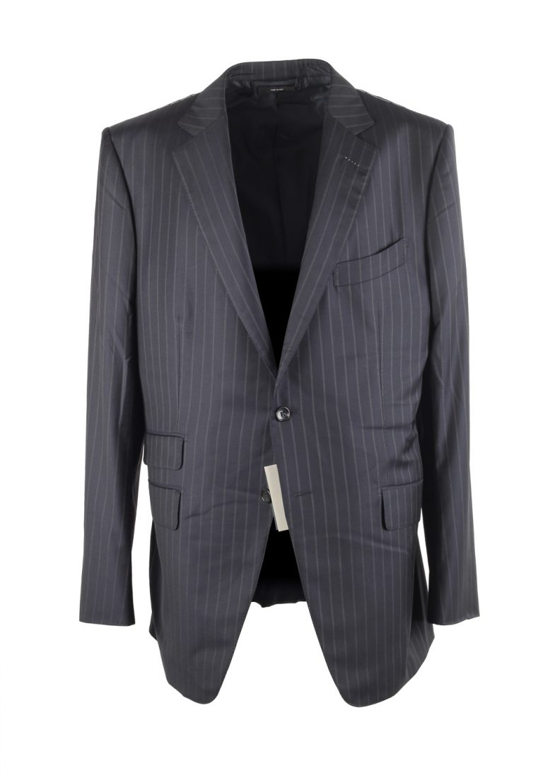 TOM FORD O'Connor Blue Striped Suit Size 56L / 46L U.S. Fit Y - thumbnail | Costume Limité