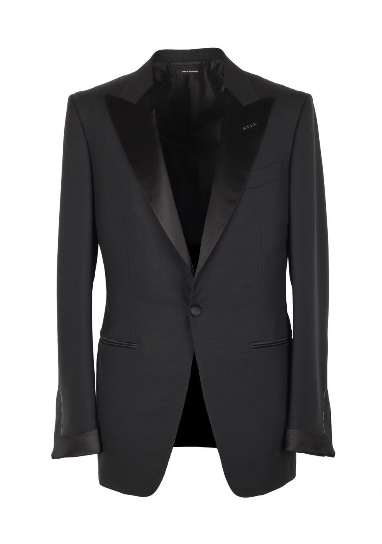 TOM FORD O'Connor Black Shawl Collar Tuxedo Smoking Suit Size 48C / 38S U.S. Fit Y - thumbnail | Costume Limité