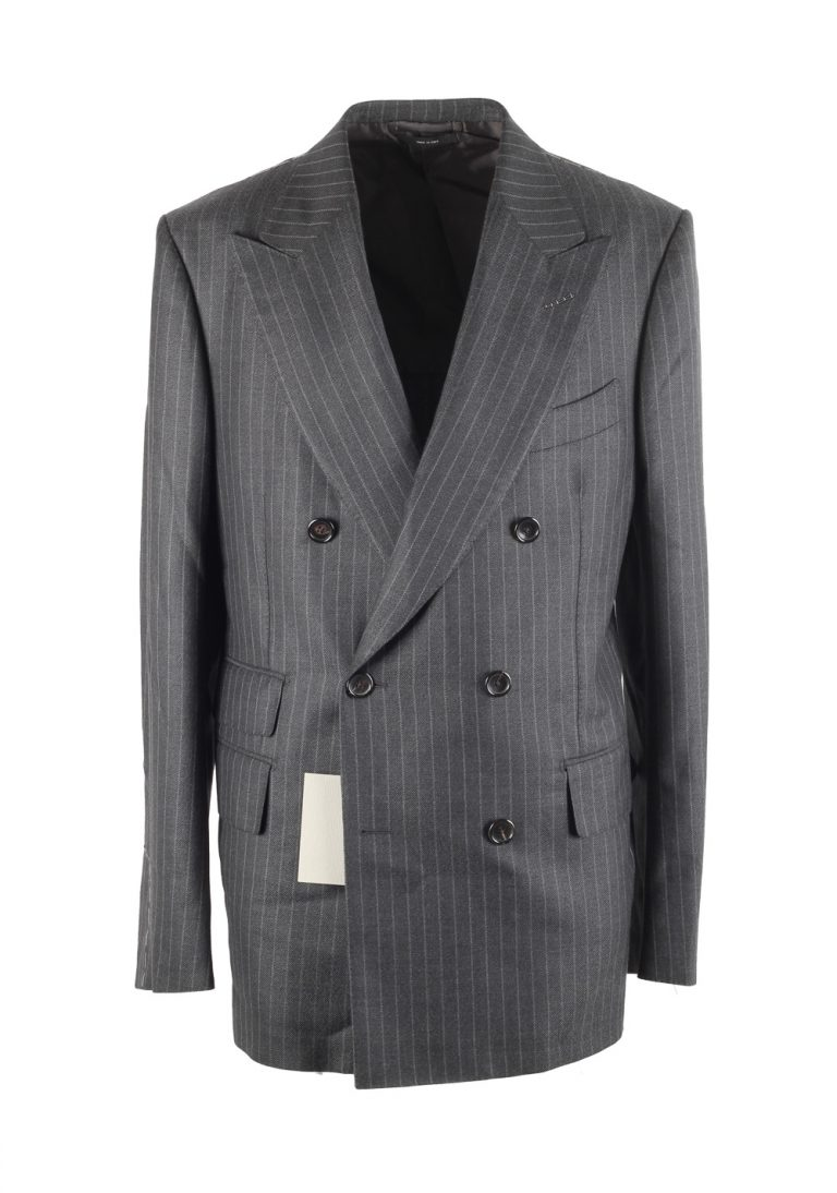 TOM FORD Shelton Gray Double Breasted Suit Size 50 / 40R U.S. - thumbnail | Costume Limité
