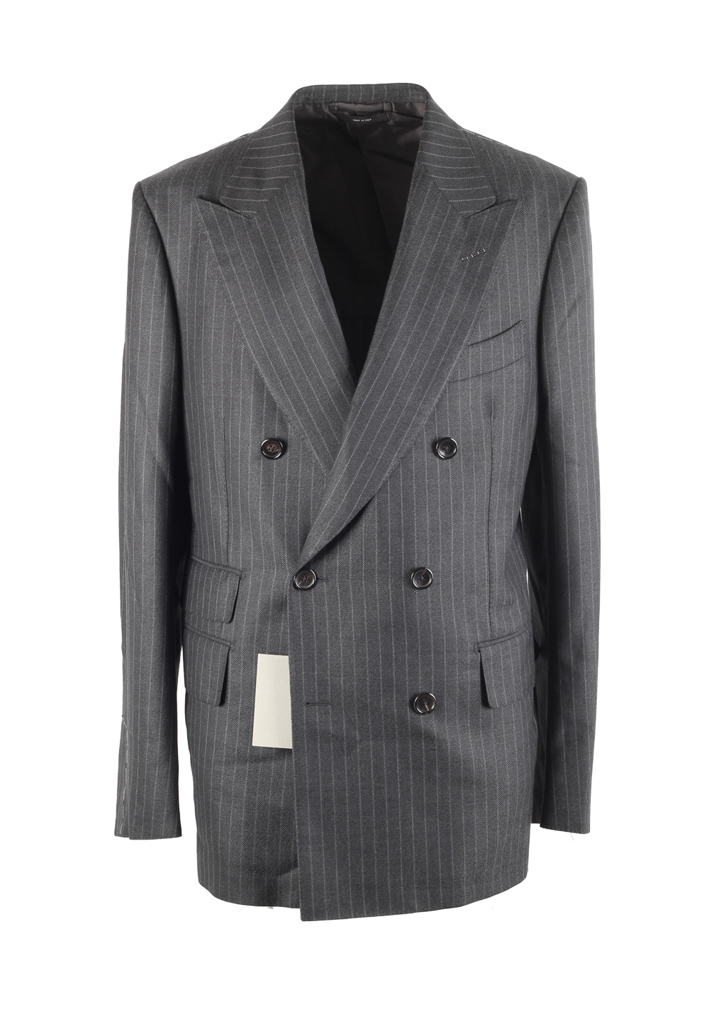 TOM FORD Shelton Gray Double Breasted Suit Size 50 / 40R U.S. | Costume Limité