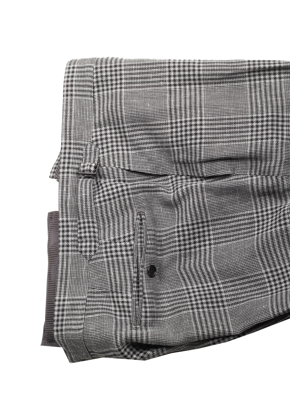 TOM FORD Shelton Checked Gray Suit Size 54 / 44R U.S. | Costume Limité