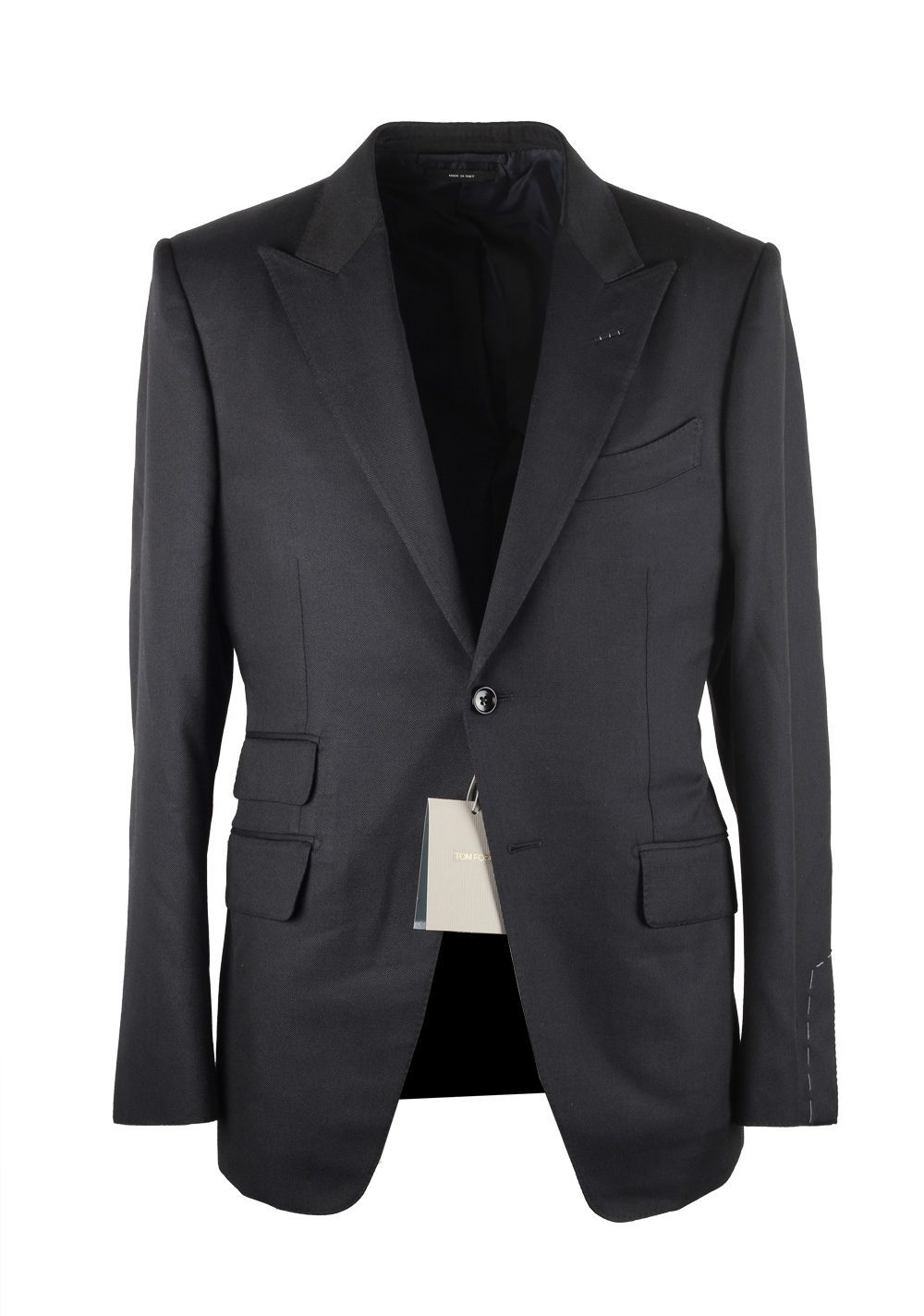 TOM FORD O'Connor Black Suit Size 48 / 38R U.S. Silk Wool Fit Y | Costume Limité