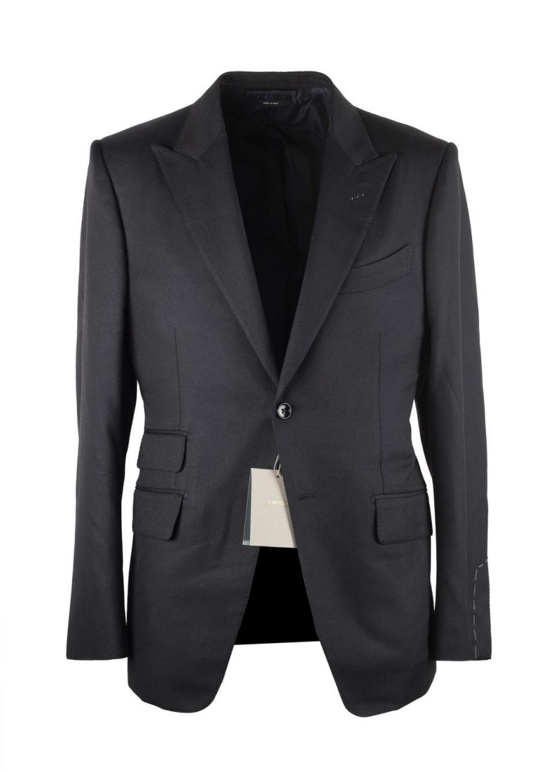 TOM FORD O'Connor Black Suit Size 48 / 38R U.S. Silk Wool Fit Y - thumbnail | Costume Limité