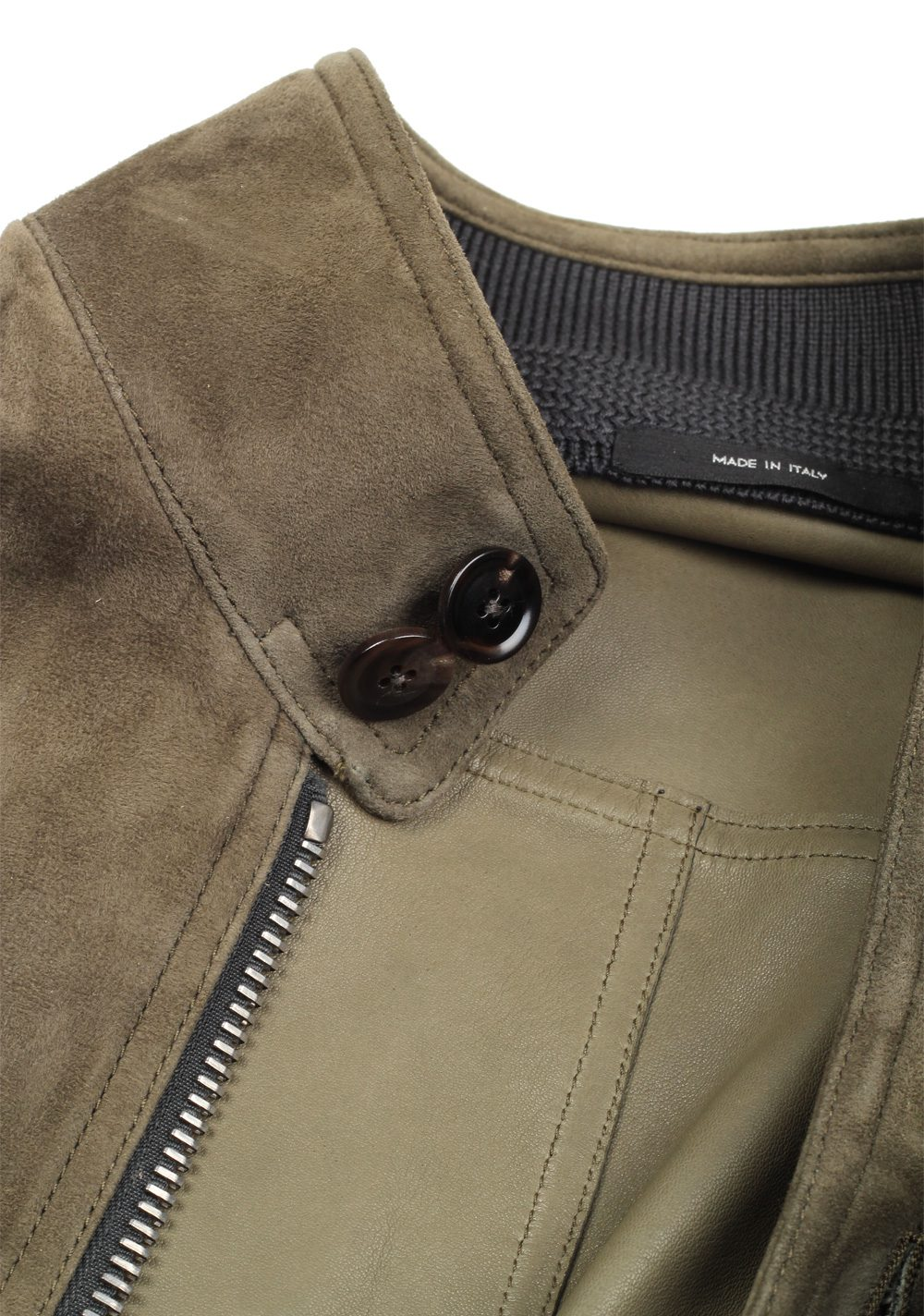 TOM FORD Taupe Leather Suede Jacket Coat Size 48 / 38R U.S. Outerwear | Costume Limité