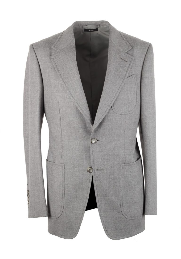 TOM FORD Shelton Gray Suit Size 46 / 36R U.S. In Wool - thumbnail | Costume Limité