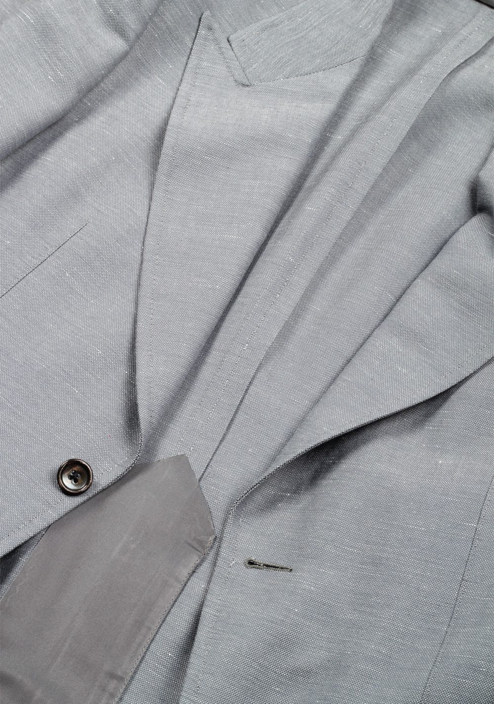 TOM FORD Shelton Gray Suit Size 46 / 36R U.S. In Wool Linen Mohair | Costume Limité