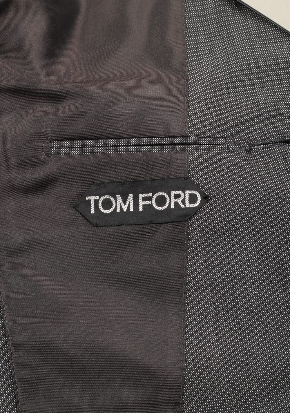 TOM FORD Shelton Gray Suit Size 46 / 36R U.S. In Mohair Wool | Costume Limité