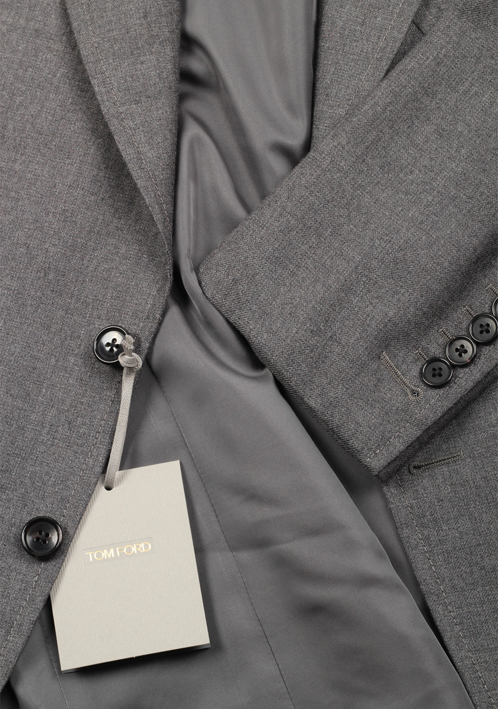 TOM FORD Shelton Gray Suit Size 46 / 36R U.S. In Wool | Costume Limité
