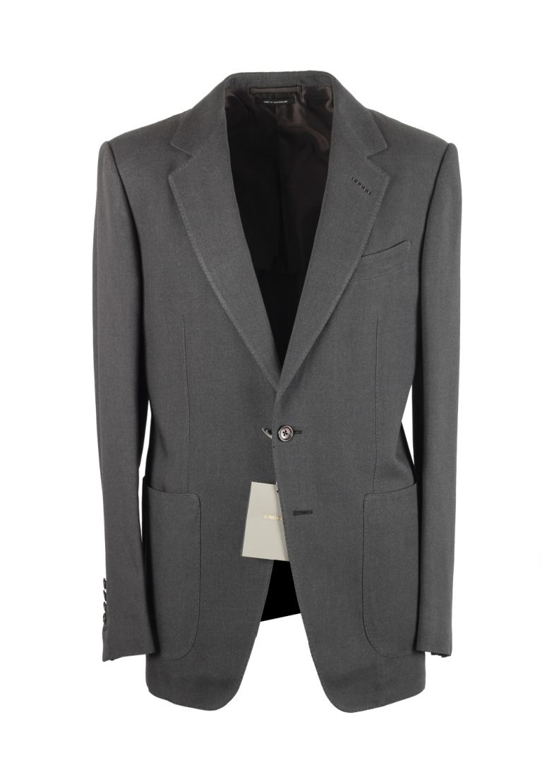 TOM FORD Buckley Gray Suit Size 48 / 38R U.S. In Wool - thumbnail | Costume Limité
