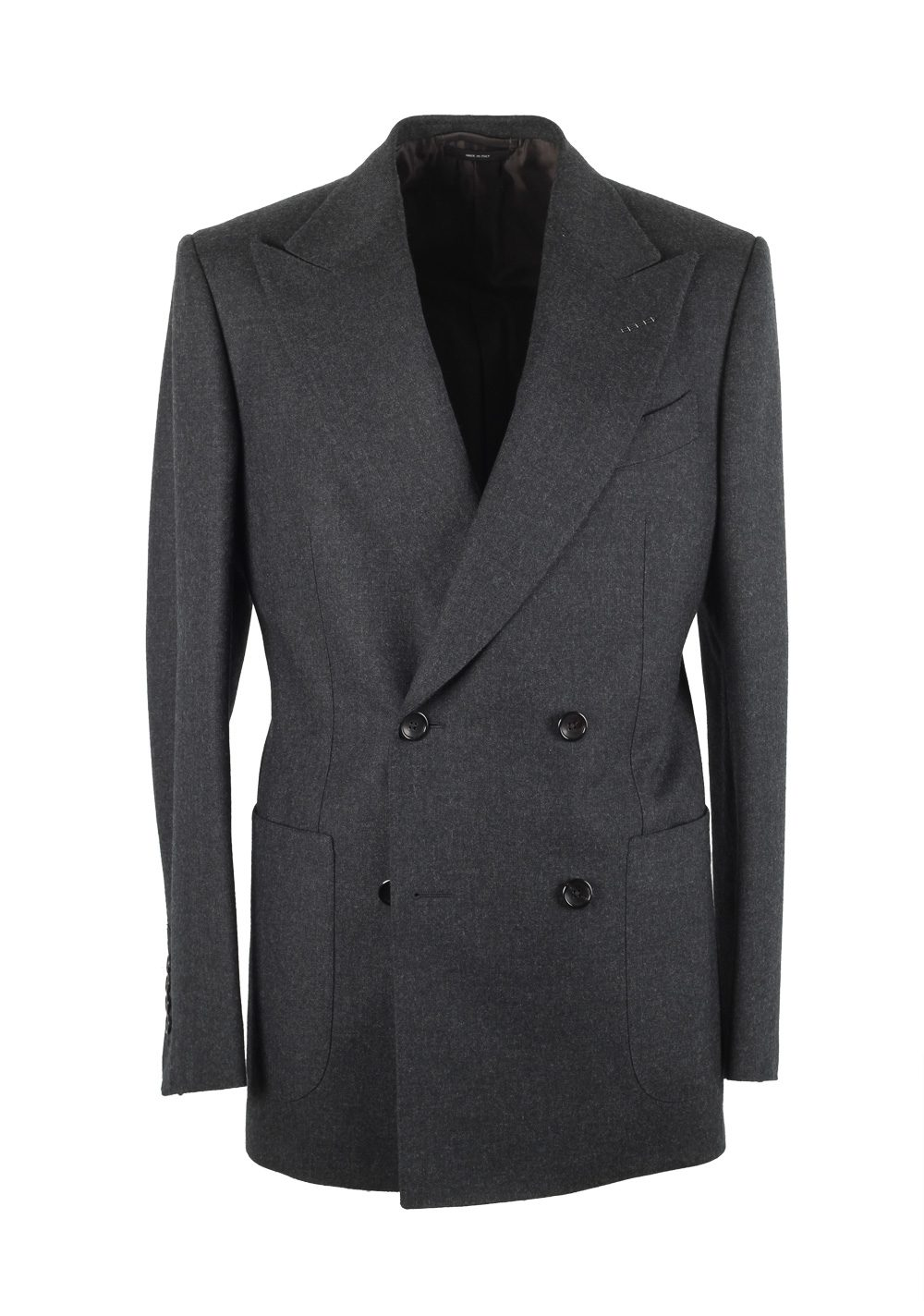 TOM FORD Shelton Double Breasted Gray Suit Size 46 / 36R U.S. Wool | Costume Limité