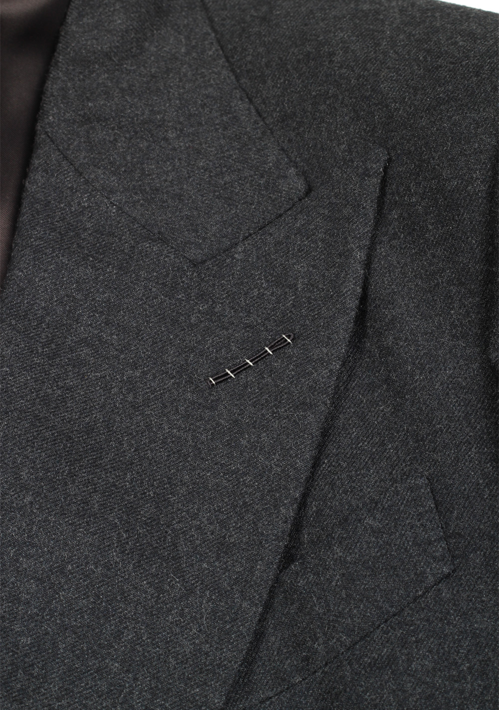 TOM FORD Shelton Double Breasted Gray Suit Size 46 / 36R U.S. Wool   Costume Limité