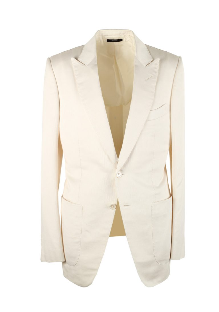 TOM FORD Buckley Off White Suit Size 48 / 38R U.S. Silk Cotton - thumbnail | Costume Limité