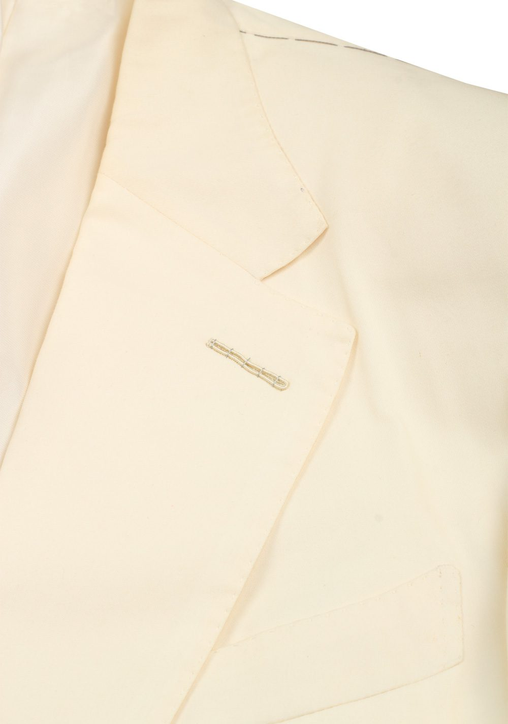 TOM FORD Windsor Off White Suit Size 50 / 40R U.S. Cotton Silk Fit A | Costume Limité