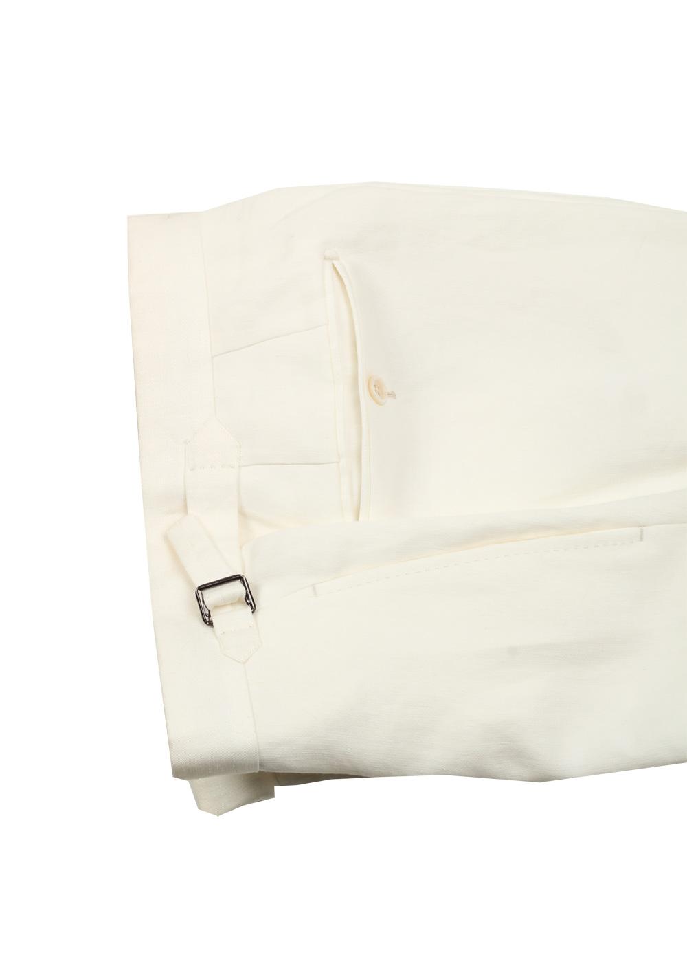 TOM FORD Regency Solid Off White Suit Size 46 / 36R U.S. Linen Base B   Costume Limité