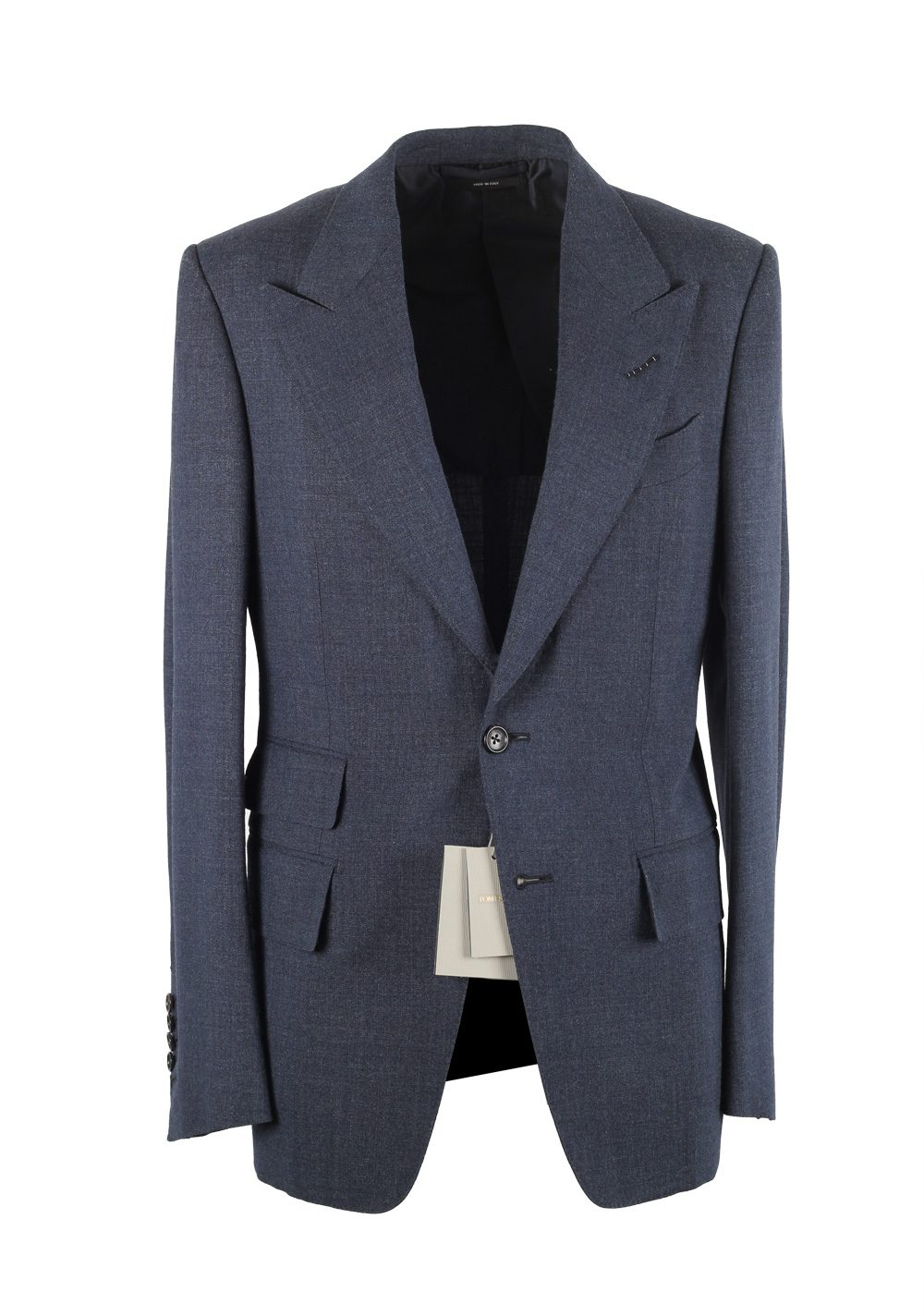 TOM FORD Shelton Blue Suit Size 46 / 36R U.S. In Wool Silk | Costume Limité