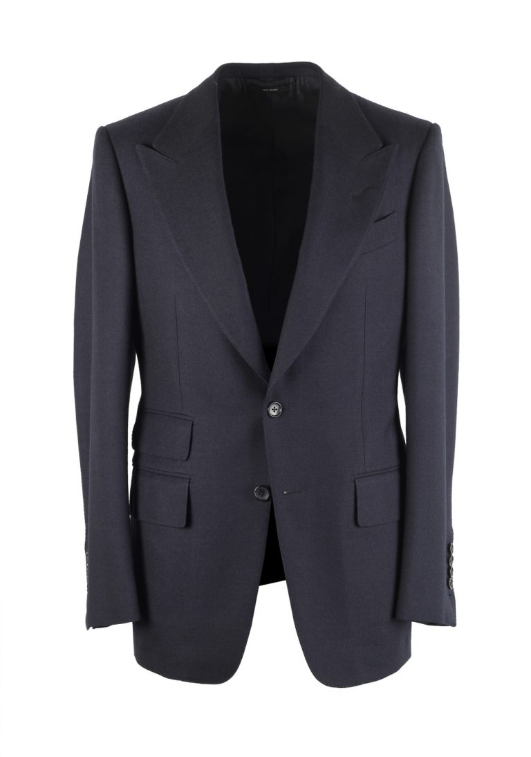 TOM FORD Shelton Blue Sport Coat Size 46 / 36R In Wool - thumbnail | Costume Limité