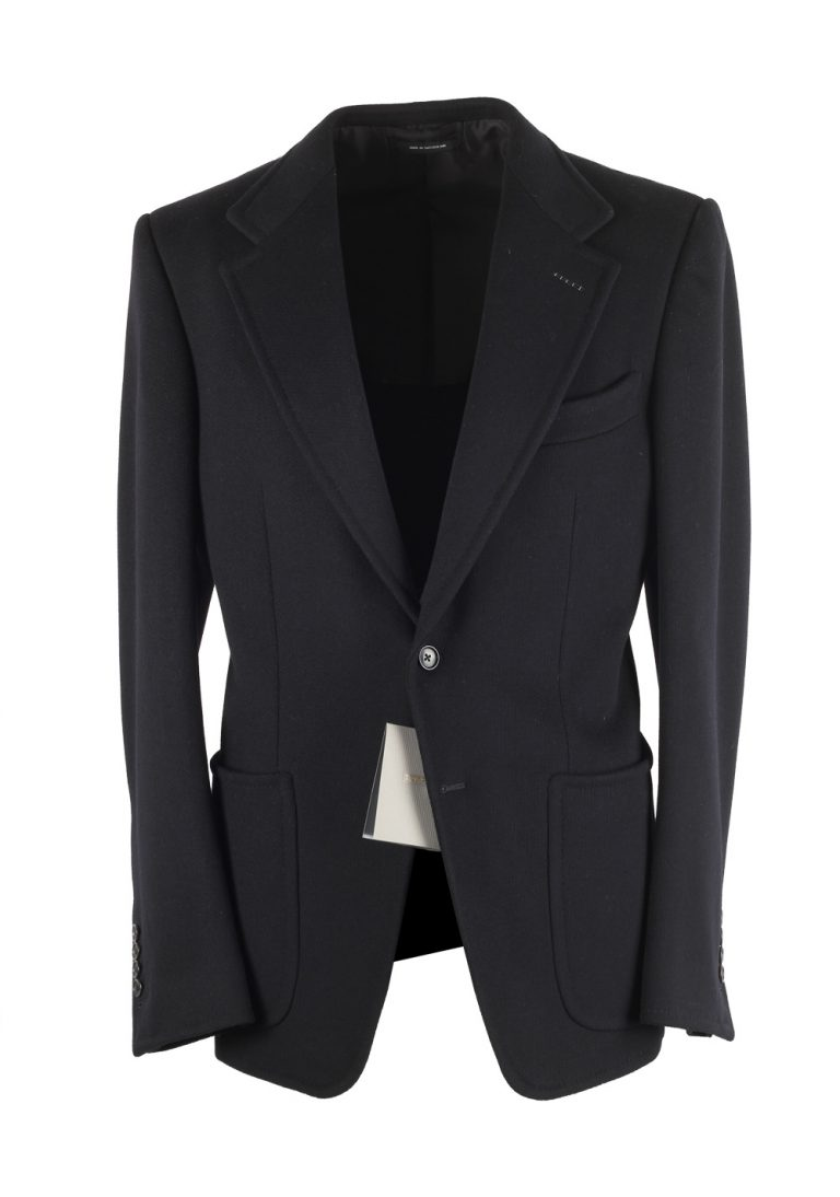 TOM FORD Shelton Black Sport Coat Size 46 / 36R In Wool - thumbnail | Costume Limité