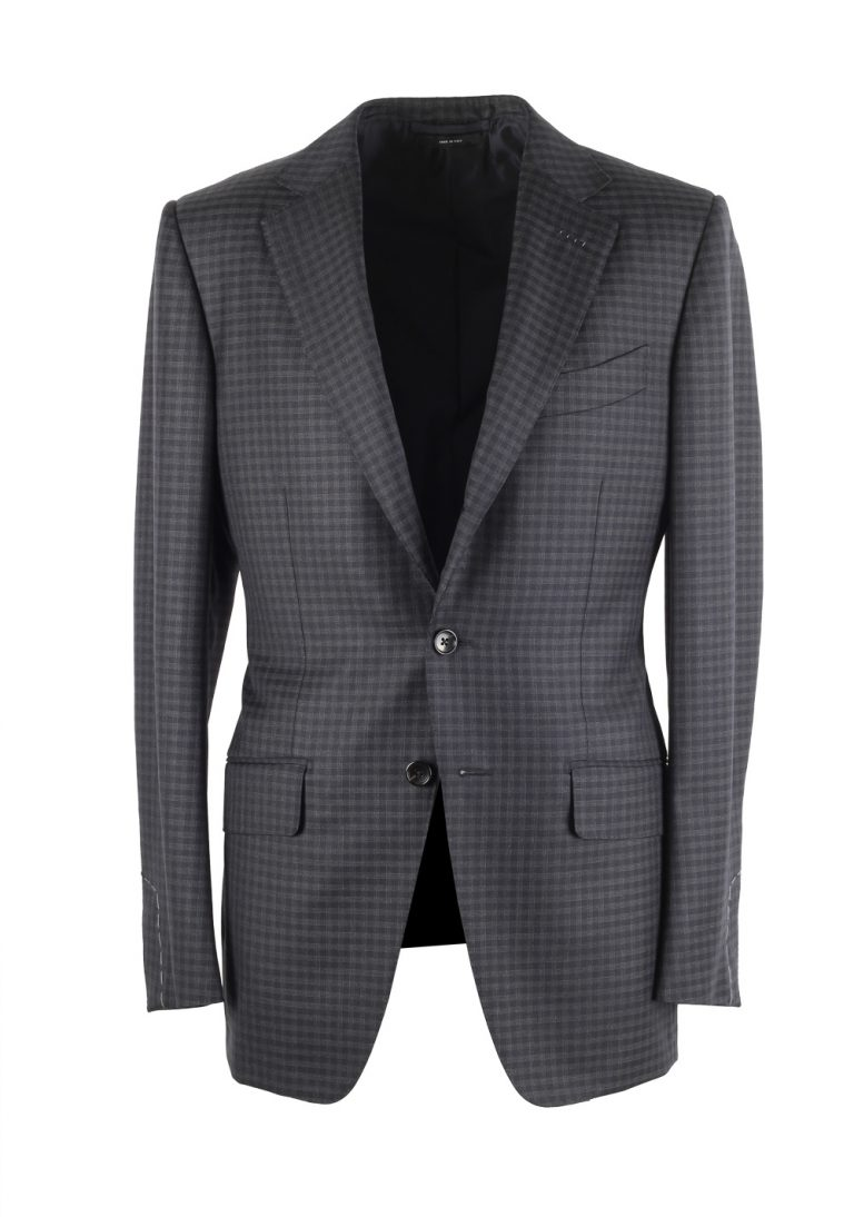 TOM FORD O'Connor Checked Blue Sport Coat Size 46 / 36R Fit Y - thumbnail | Costume Limité