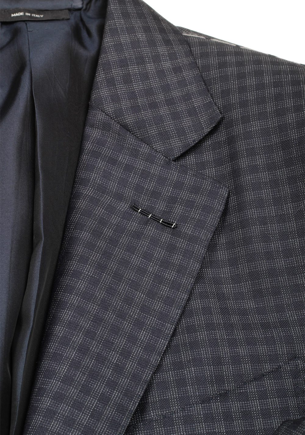 TOM FORD O'Connor Checked Blue Sport Coat Size 46 / 36R Fit Y | Costume Limité