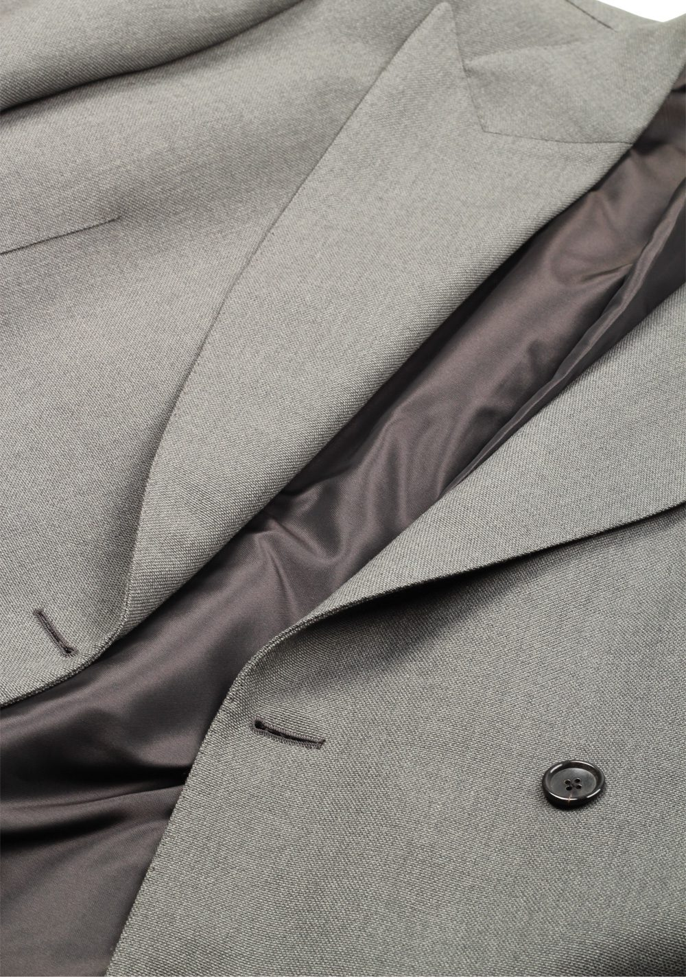 TOM FORD Shelton Double Breasted Gray Sport Coat Size 46 / 36R In Wool   Costume Limité