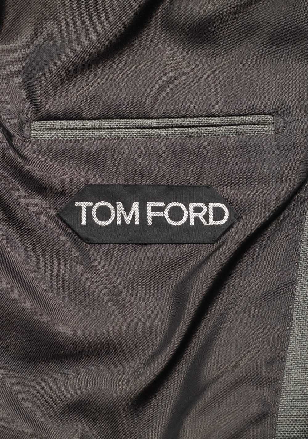 TOM FORD Shelton Double Breasted Gray Sport Coat Size 46 / 36R In Wool | Costume Limité
