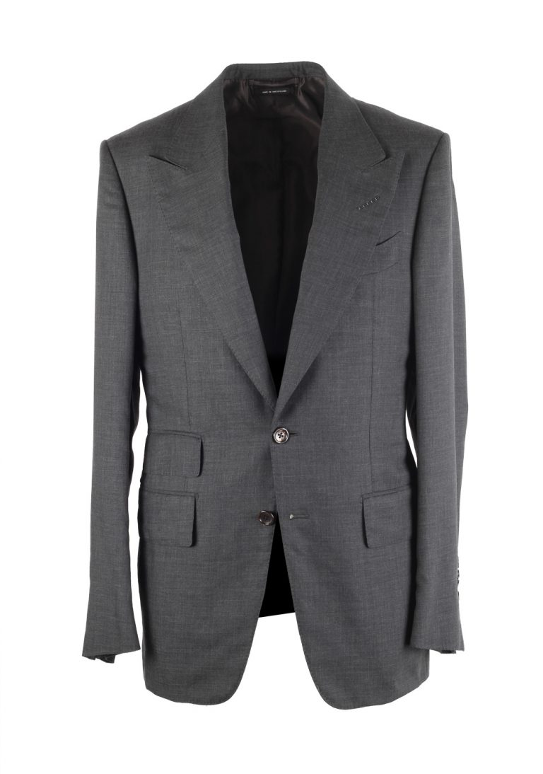 TOM FORD Shelton Gray Sport Coat Size 46 / 36R In Cashmere - thumbnail | Costume Limité