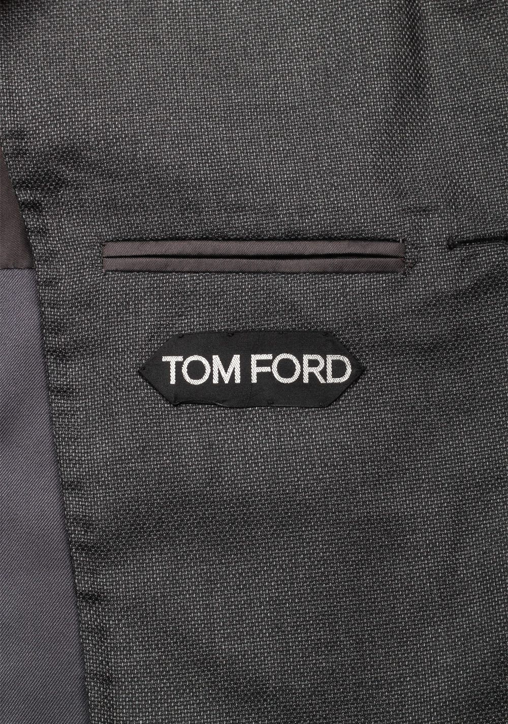 TOM FORD Shelton Gray Sport Coat Size 46 / 36R In Silk Cashmere | Costume Limité