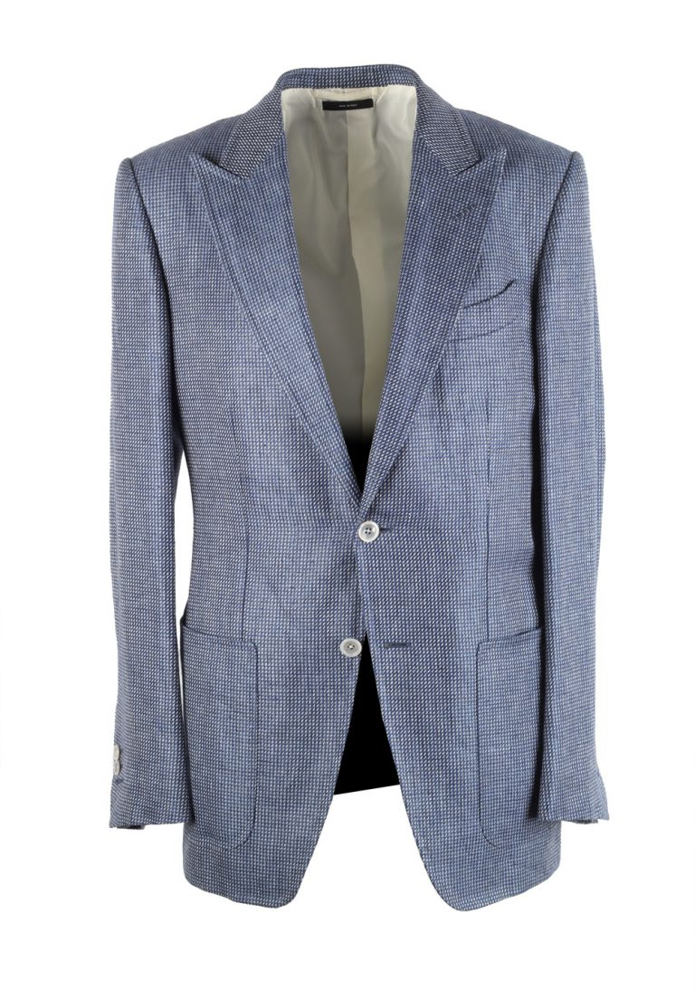 TOM FORD Falconer Blue Sport Coat Size 48 / 38R U.S.  Fit F - thumbnail | Costume Limité