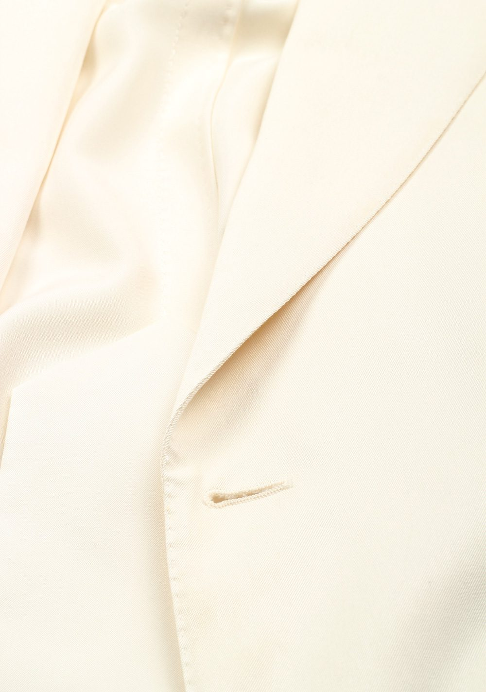 TOM FORD Shelton Off White Sport Coat Size 48 / 38R U.S. In Silk | Costume Limité