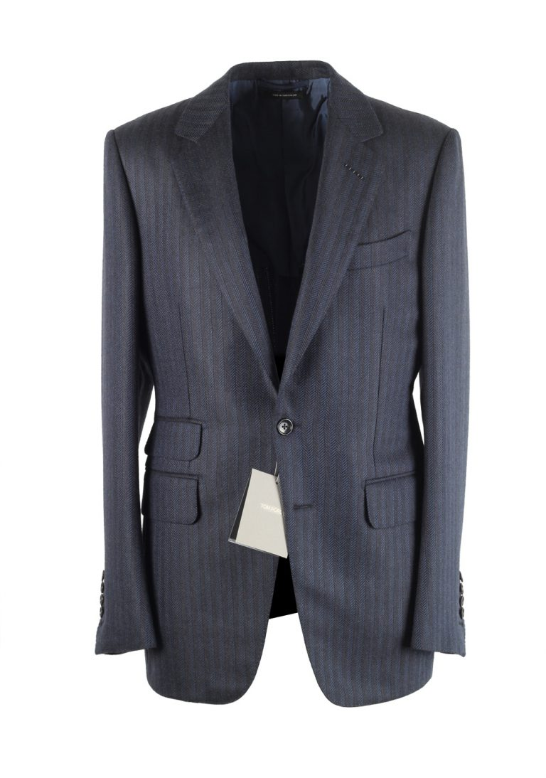 TOM FORD Buckley Blue Sport Coat Size 48 / 38R U.S. Base E - thumbnail | Costume Limité