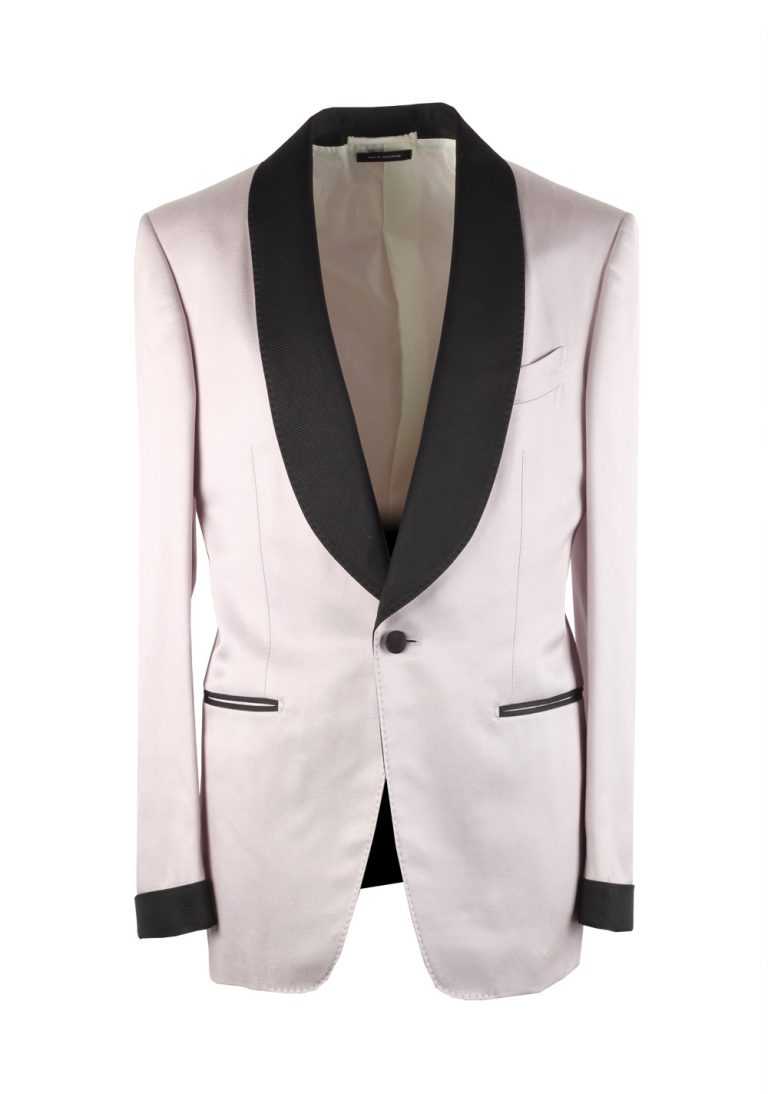 TOM FORD Shelton Lilac Tuxedo Dinner Jacket Size 46 / 36R U.S. - thumbnail | Costume Limité