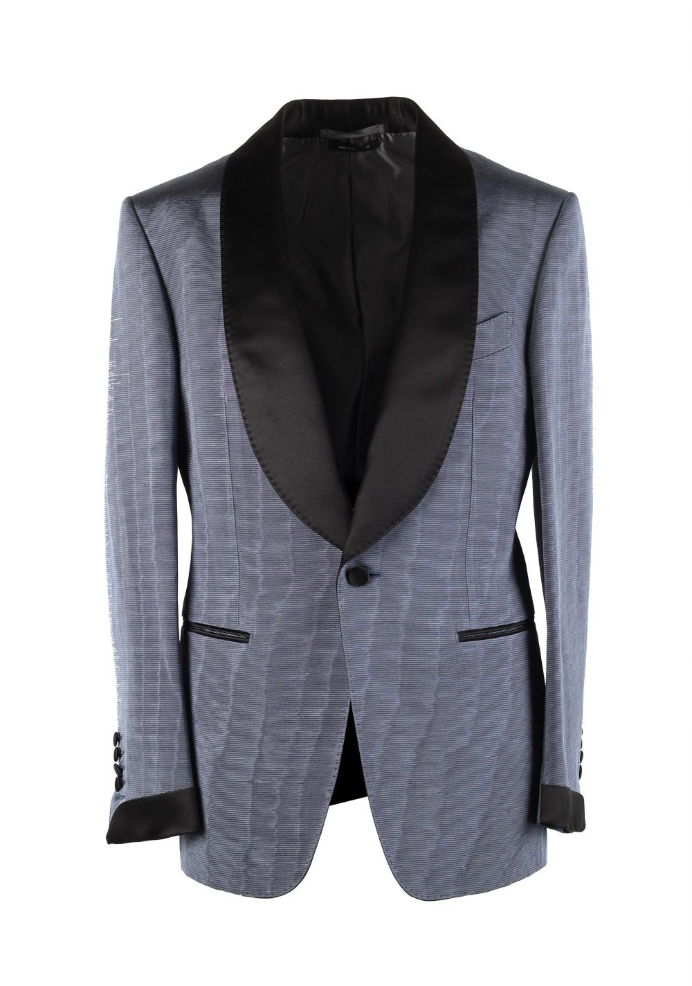 TOM FORD Shelton Blue Tuxedo Dinner Jacket Size 46 / 36R U.S. | Costume Limité
