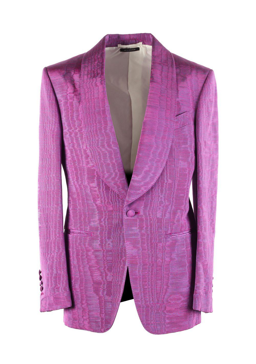 TOM FORD Shelton Pink Tuxedo Dinner Jacket Size 46 / 36R U.S. | Costume Limité