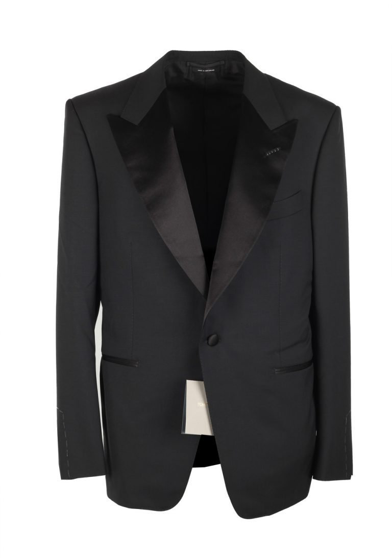 TOM FORD Windsor Black Tuxedo Dinner Jacket Size 60 / 50R U.S. Fit A - thumbnail | Costume Limité
