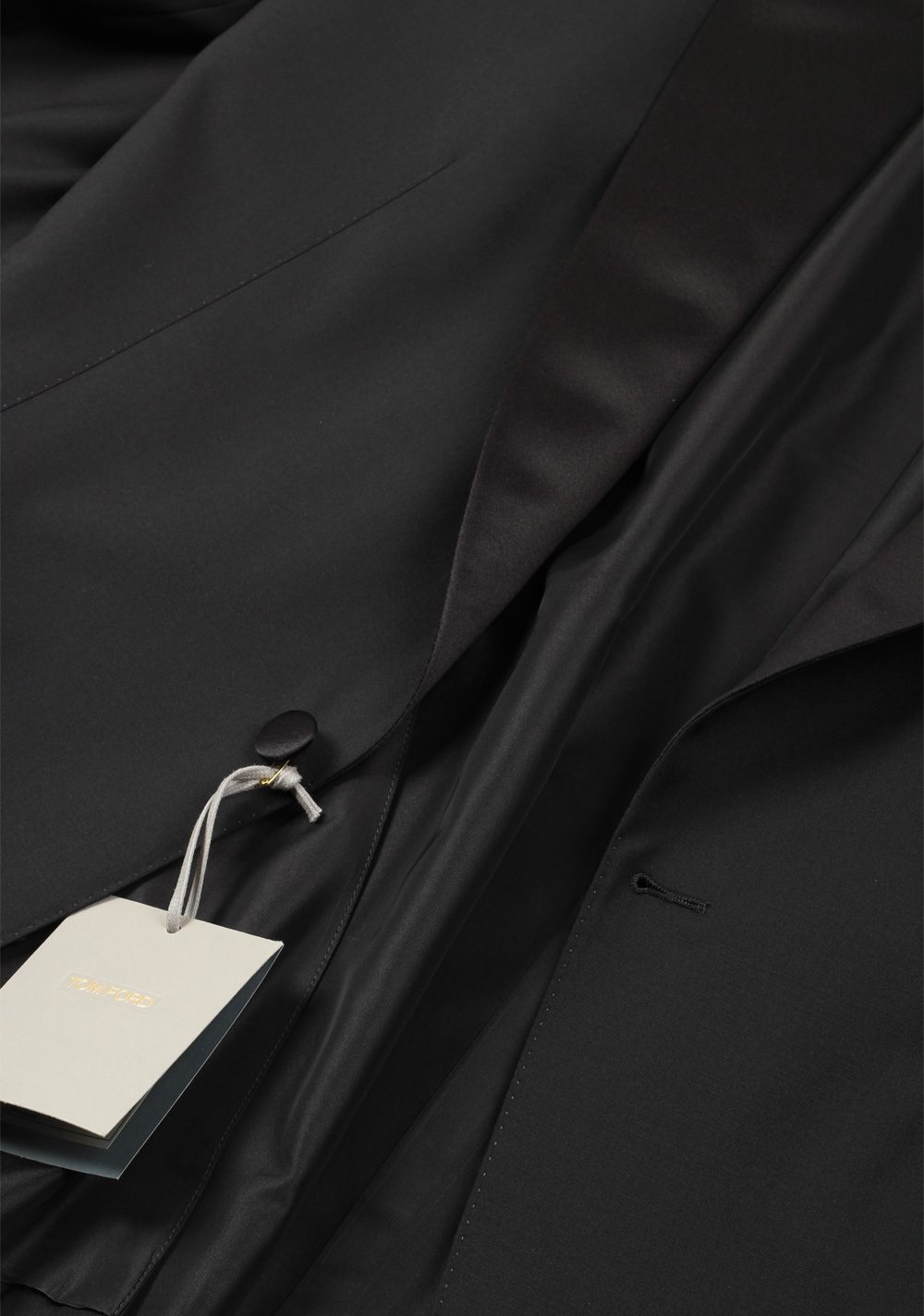 TOM FORD Windsor Black Tuxedo Dinner Jacket Size 60 / 50R U.S. Fit A | Costume Limité