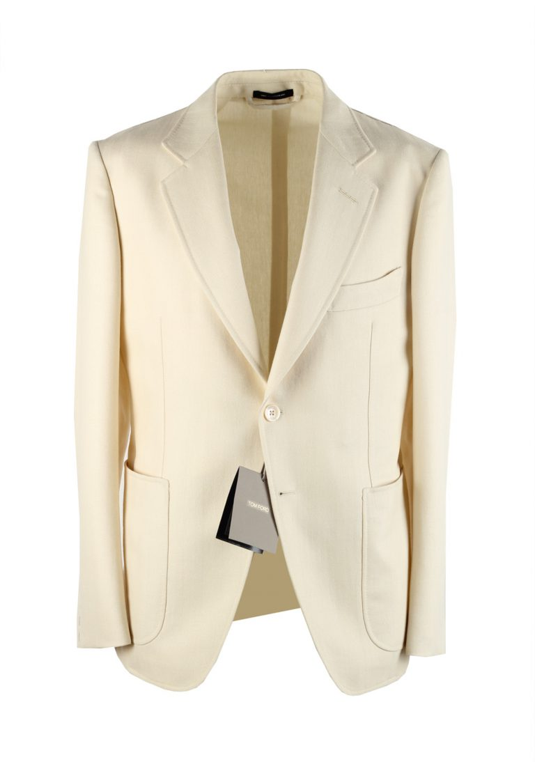 TOM FORD Shelton Off White Sport Coat Size Size 48C / 38S U.S. - thumbnail | Costume Limité