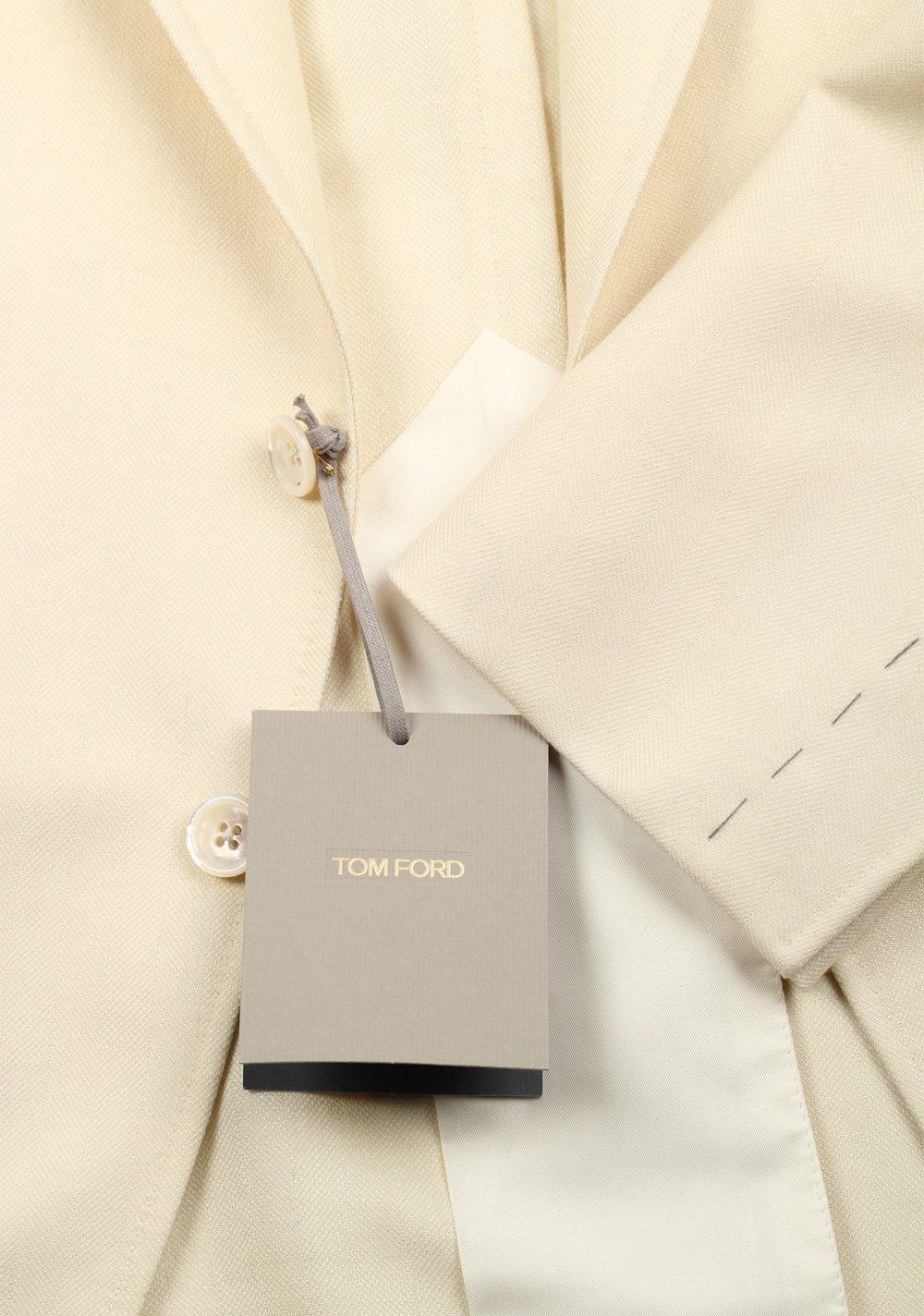 TOM FORD Shelton Off White Sport Coat Size Size 48C / 38S U.S. | Costume Limité