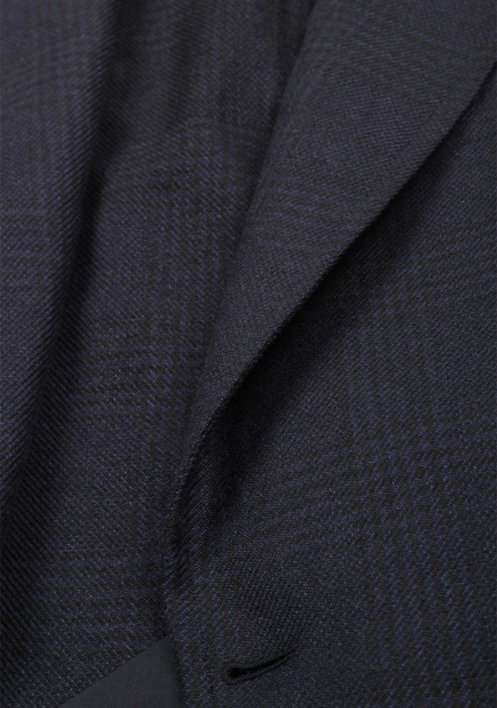 TOM FORD Shelton Blue Checked Sport Coat Size 48L / 38L U.S. Silk Cashmere | Costume Limité