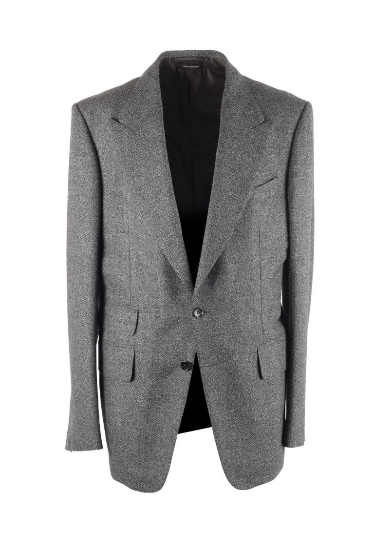 TOM FORD Shelton Gray Sport Coat Size 50 / 40R U.S. In Wool - thumbnail | Costume Limité