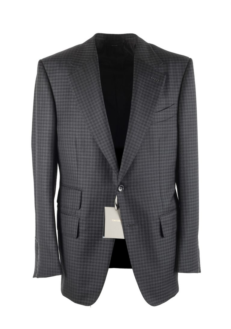 TOM FORD Windsor Blue Checked Sport Coat Size 50 / 40R U.S. Fit A - thumbnail | Costume Limité