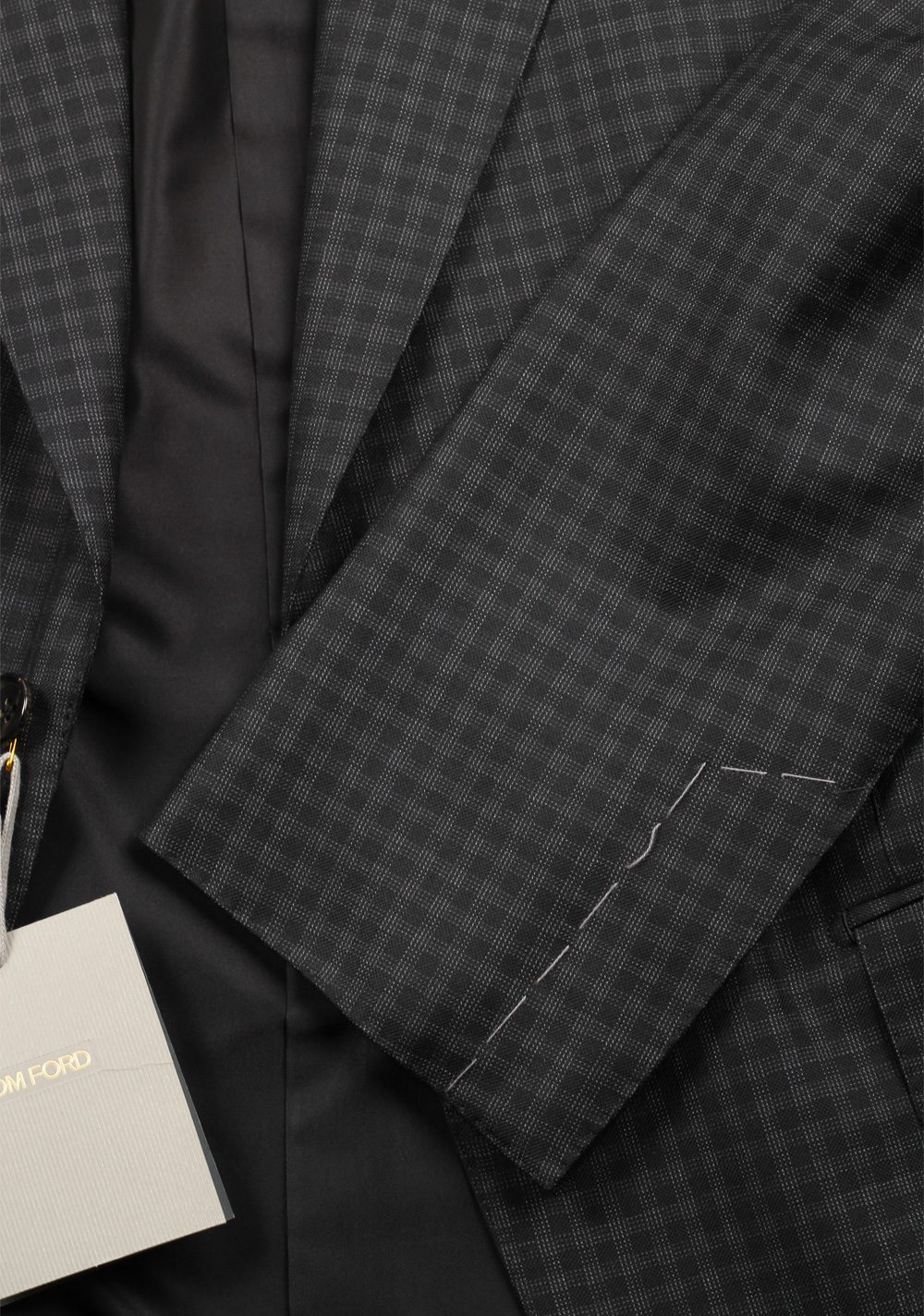 TOM FORD Windsor Blue Checked Sport Coat Size 50 / 40R U.S. Fit A | Costume Limité