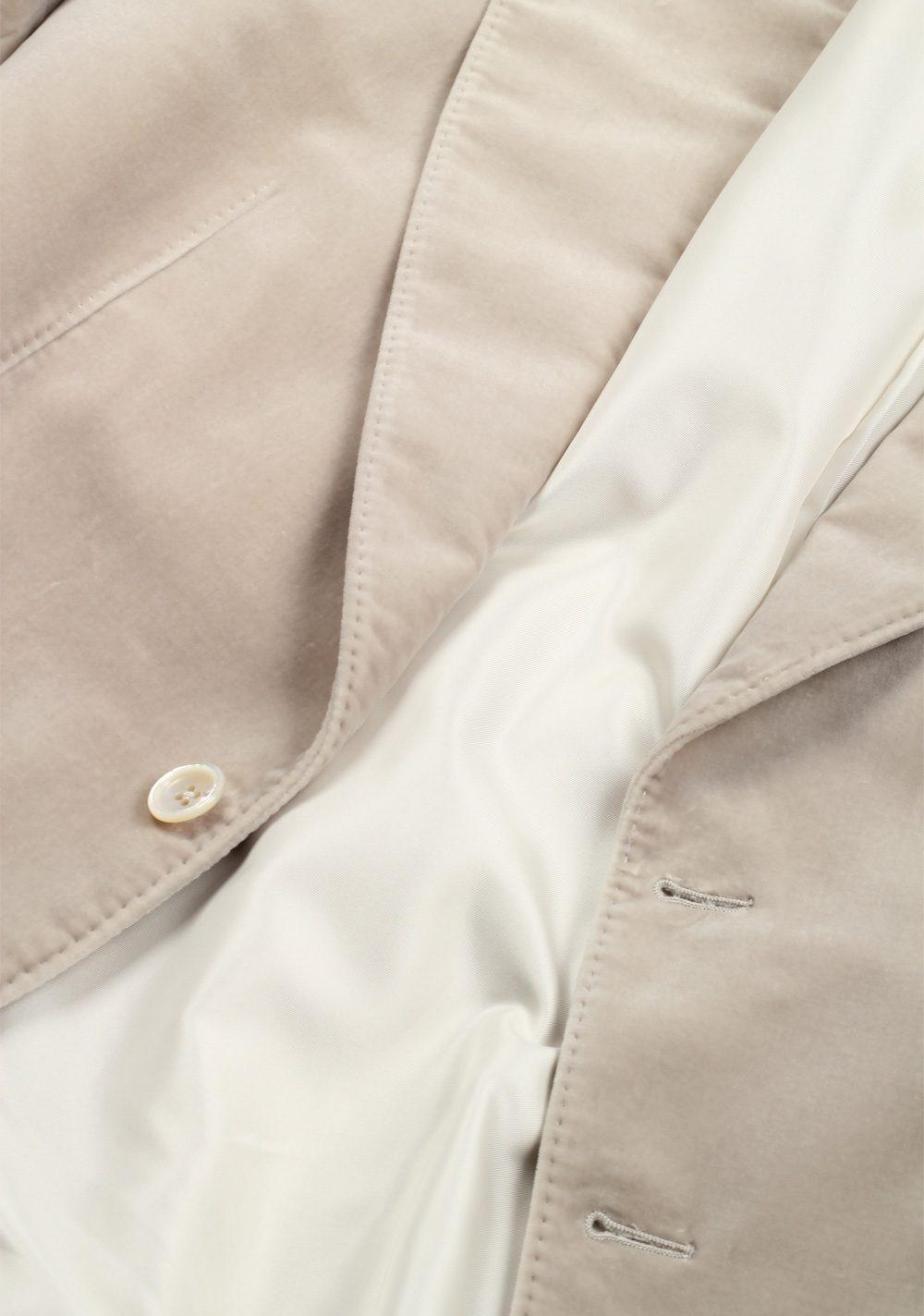 TOM FORD Shelton Velvet Beige Sport Coat Size 50 / 40R U.S. Cotton | Costume Limité