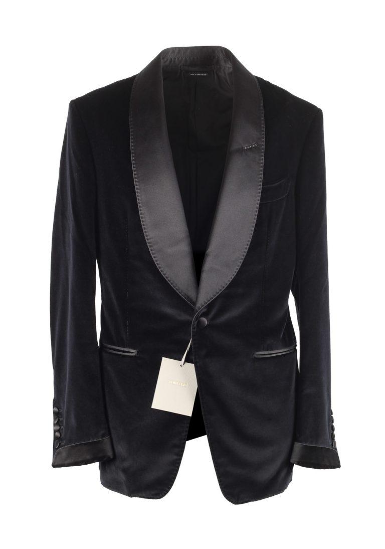 TOM FORD Shelton Black Velvet Tuxedo Dinner Jacket Size 48 / 38R U.S. - thumbnail | Costume Limité