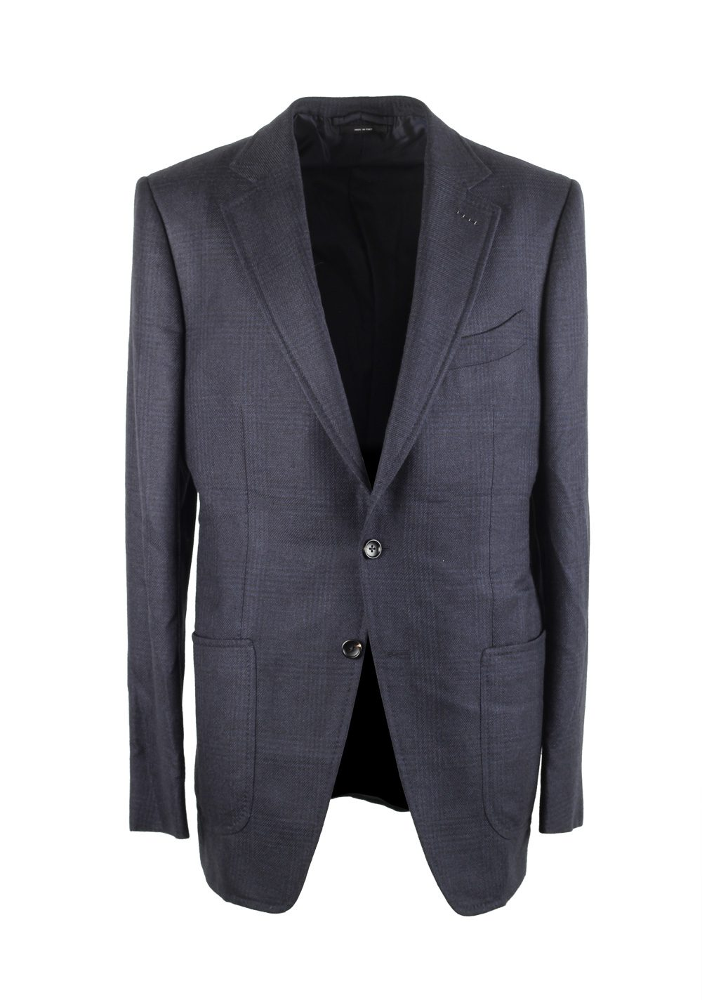 TOM FORD O'Connor Blue Checked Sport Coat Size 50L / 40L U.S. Fit Y | Costume Limité
