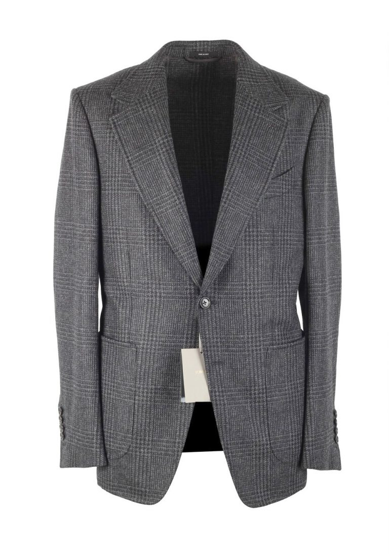 TOM FORD Shelton Checked Gray Sport Coat Size 54 / 44R U.S. - thumbnail | Costume Limité