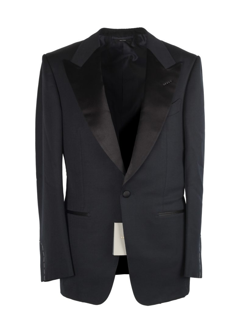 TOM FORD Windsor Black Tuxedo Smoking Suit Size 46 / 36R U.S. Fit A - thumbnail | Costume Limité