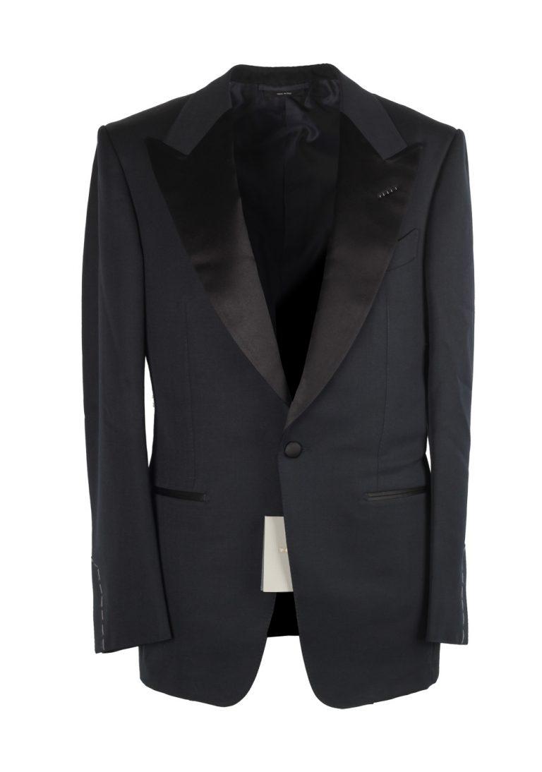 TOM FORD Windsor Black Tuxedo Smoking Suit Size 46 / 36R U.S. Fit A - thumbnail | Costume Limité