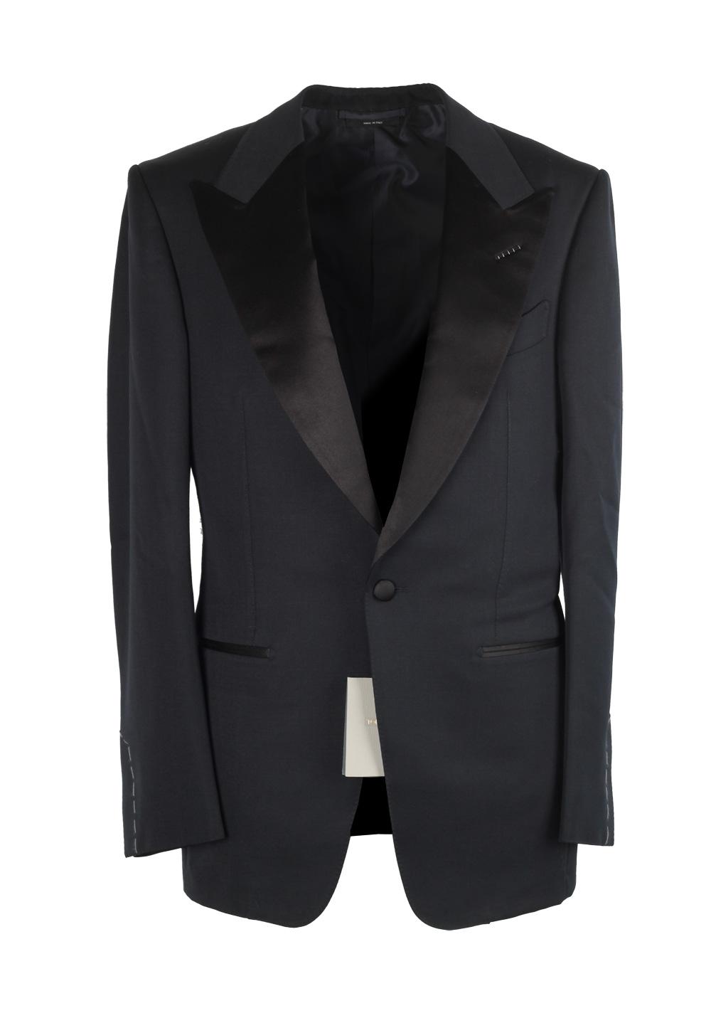 TOM FORD Windsor Black Tuxedo Smoking Suit Size 46 / 36R U.S. Fit A | Costume Limité