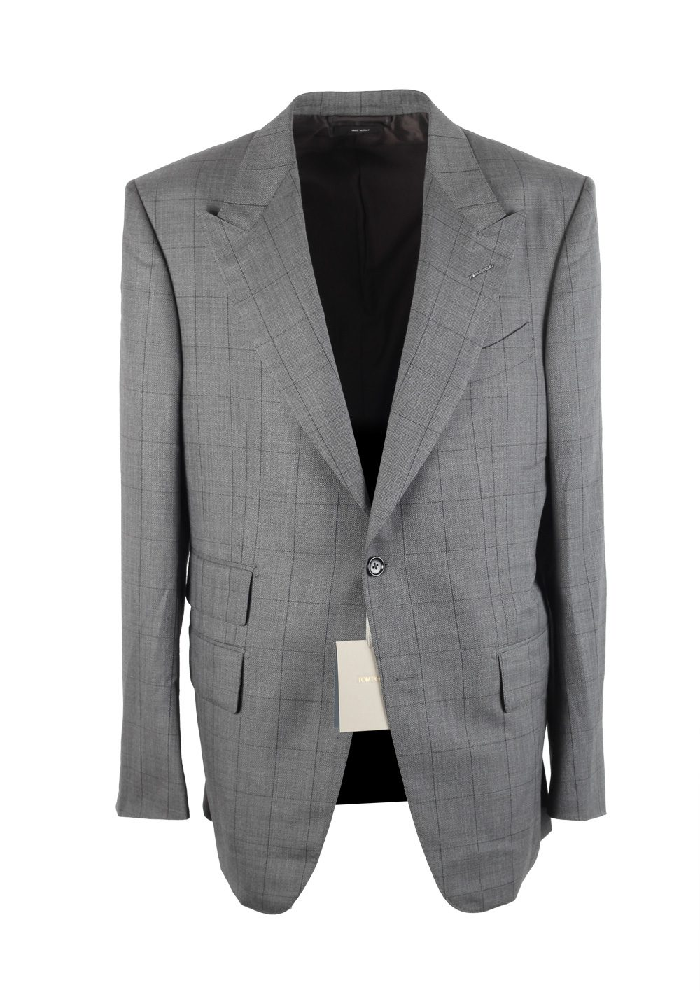 TOM FORD Windsor Checked Gray Suit | Costume Limité