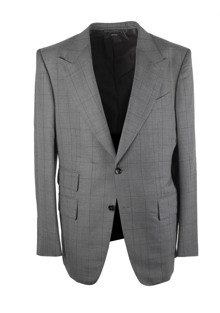 TOM FORD Windsor Checked Gray Suit - thumbnail | Costume Limité